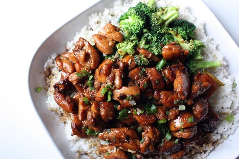 bowl of teriyaki